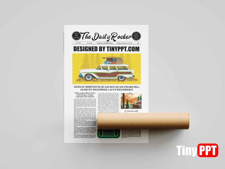 Editable Newspaper Template Google Docs