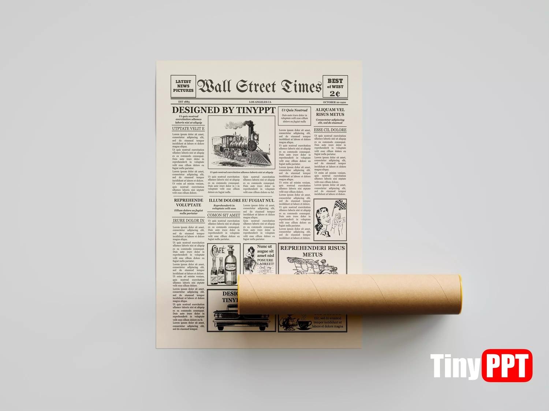1920S Vintage Newspaper Template